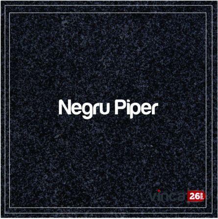 Blat Granit Negru Piper, decupaj rotund
