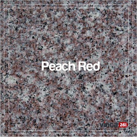 Blat Granit Peach Red 2cm, decupaj rotund