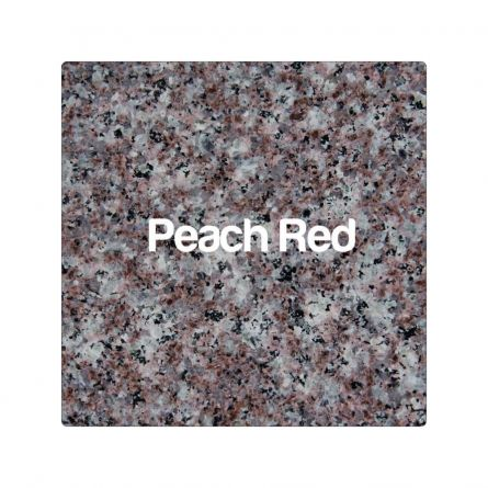 Blat Granit Peach Red 3cm, decupaj rotund