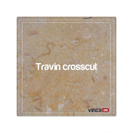 Blat Marmură Travin Crosscut decupaj rotund