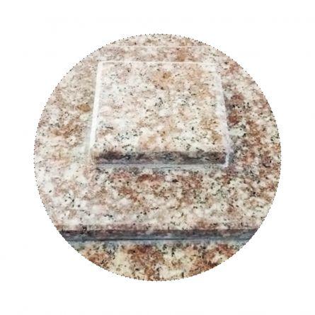 Capac gard granit Peach Red 3 straturi