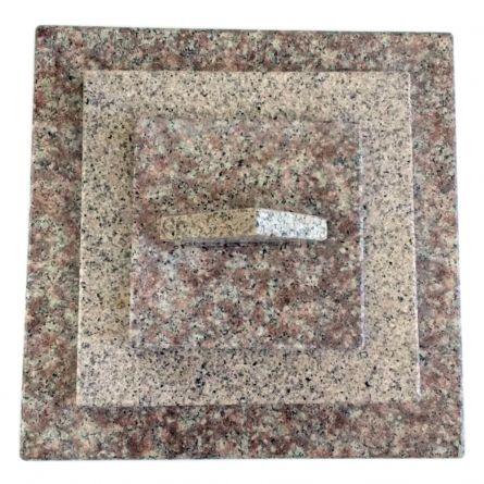 Capac gard granit Aur Desert - Peach Red 4 straturi