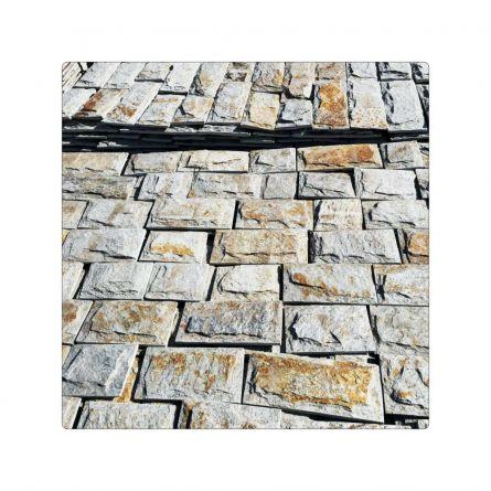 Piatra naturala gneiss gri galben 10LL hand made