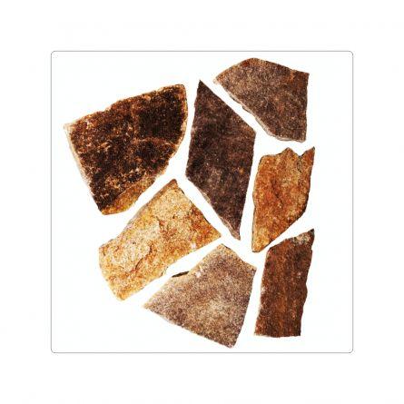 Piatra naturala gneiss maron rustic forme mari
