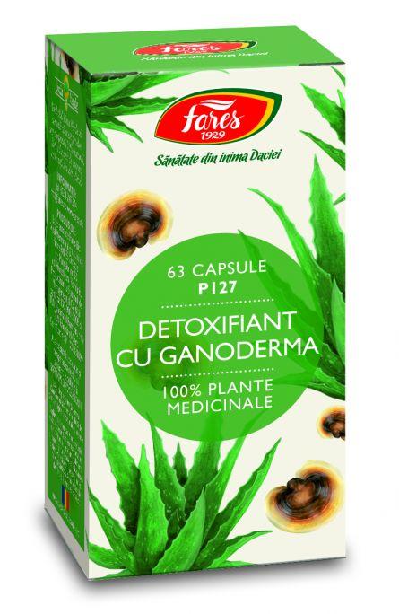 Capsule Detoxifiant cu Ganoderma 63cps - Fares