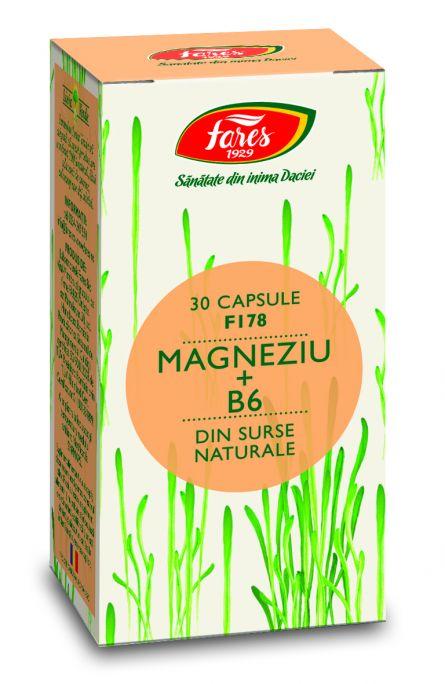 Capsule Magneziu + Vitamina B6 30cps - Fares