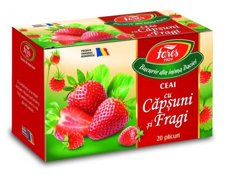 Ceai Capsuni si Fragi 20dz - Fares