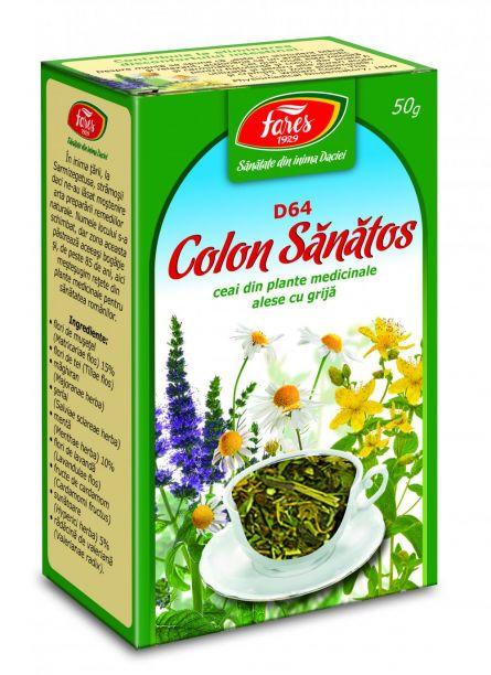 Ceai Colon Sanatos (colon iritabil) 50g - Fares
