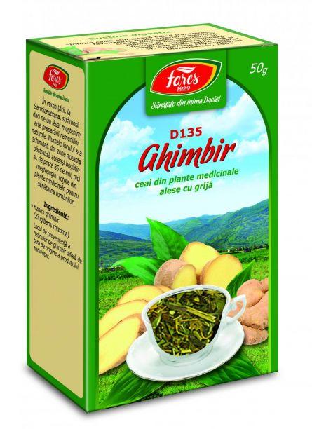 Ceai Ghimbir Rizomi 50g - Fares