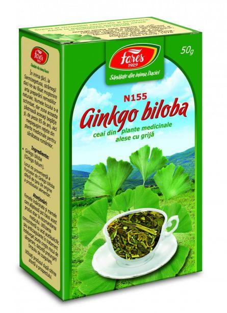 Ceai Ginkgo Biloba Frunze 50g  - Fares