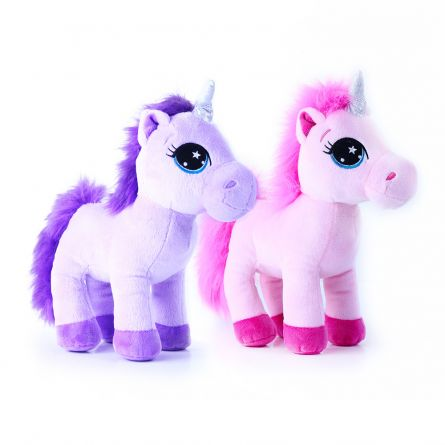 Jucărie din pluș - Unicorn mov, 23 cm