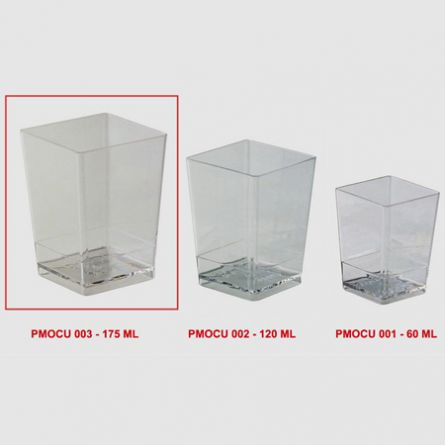 Pahare Cube 175ml - 100 buc