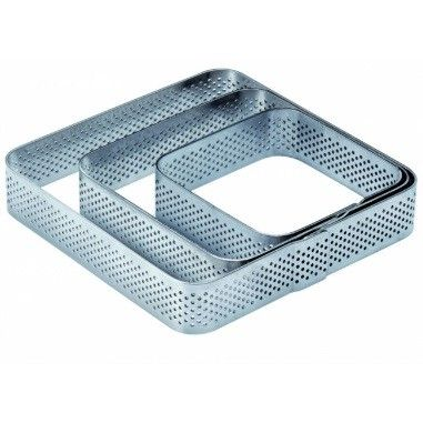Rama Microforata Tarte Colturi Rotunjite, 8.5x8.5xH2cm