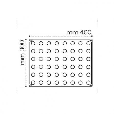 Sfere Ø 5cm - Forma Silicon 30x40cm, 20 cavitati