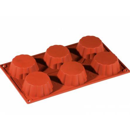 Forma Silicon Brioche/Savarina Ø7.9xh3cm, 6 cavitati