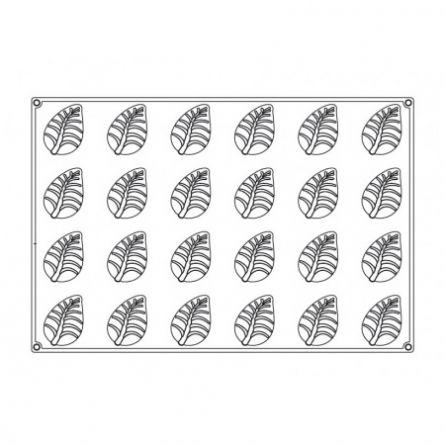 Forma Silicon Monoportii Frunza 8.6x5.6xh3.8cm, 24 cavitati
