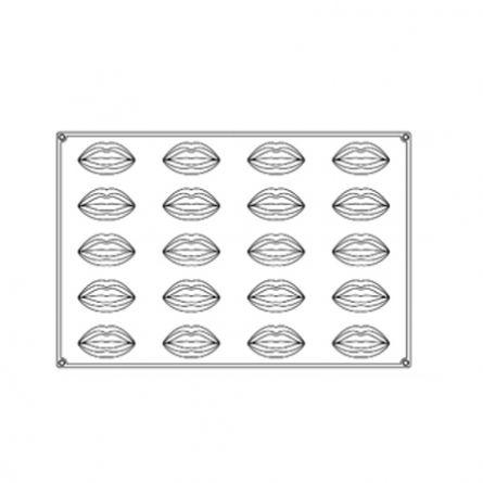 Forma Silicon Monoportii Kiss 9.3x5xh3.8cm, 20 cavitati