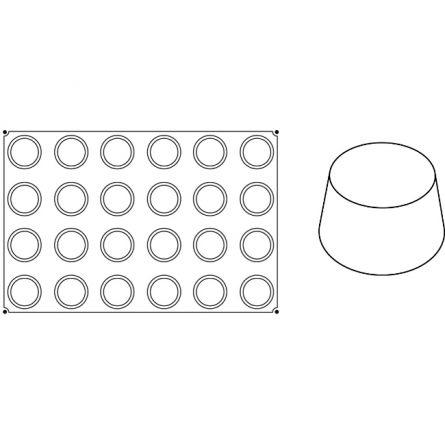 Forma Silicon Muffins Ø7xh4cm, 24 cavitati