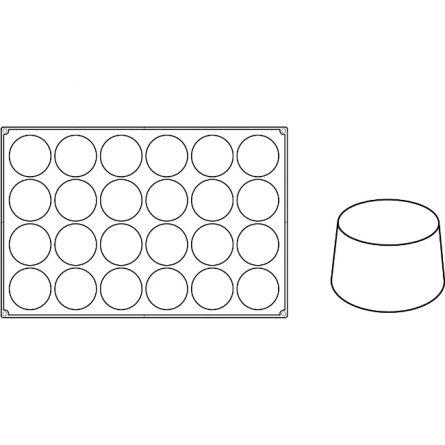 Forma Silicon Muffins Ø8.5xh5cm, 24 cavitati
