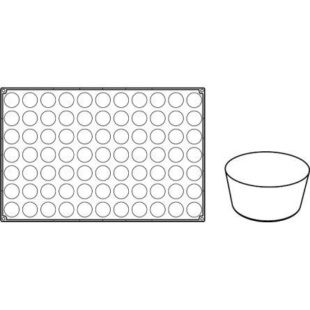 Forma Silicon Petit Four Ø4xh2cm, 77 cavitati