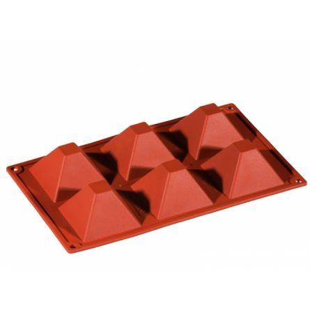 Forma Silicon Piramida 7.1x7.1xh4cm, 6 cavitati
