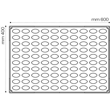 Forma Silicon Quenella 3D Monoportii 6.6x3.5xh2.6cm, 49 cavitati