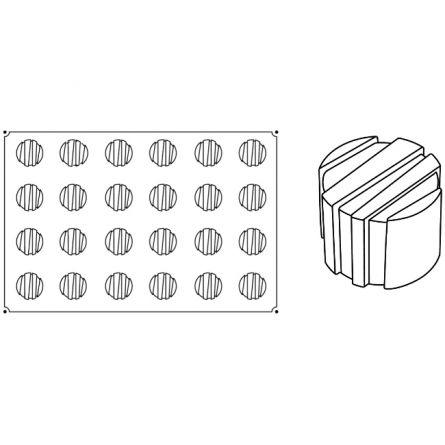 Forma Silicon Rigo Monoportii Ø6xh4.5cm, 24 cavitati