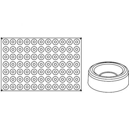Forma Silicon Savarin Rotund Mignon Ø4xh1.3cm, 77 cavitati
