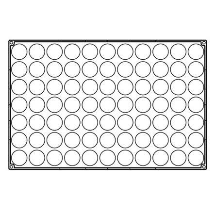 Forma Silicon Semisfere Ø4.2xh2.1cm, 77 cavitati