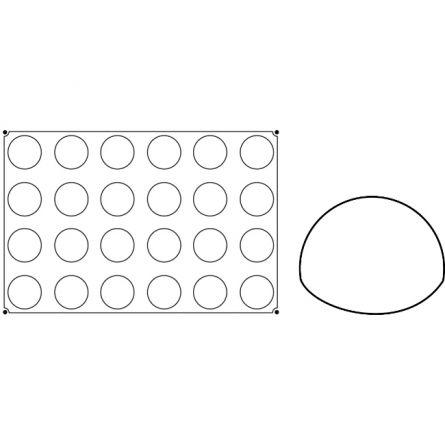 Forma Silicon Semisfere Ø7xh4cm, 24 cavitati