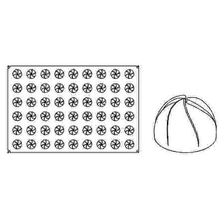 Forma Silicon Vartej Mignon Ø4xh2.7cm, 54 cavitati