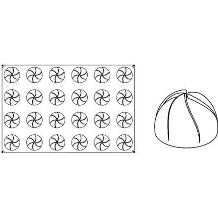 Forma Silicon Vartej Monoportii Ø7xh4.4cm, 24 cavitati