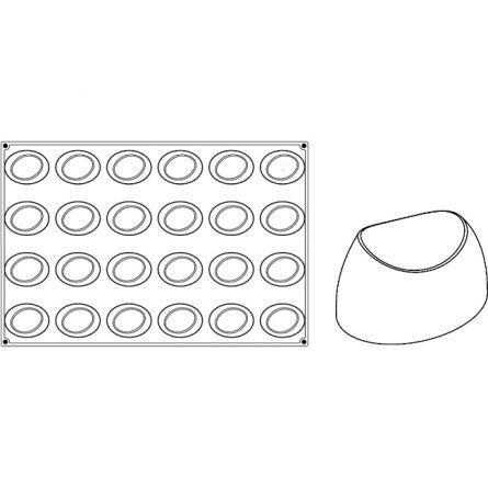 Forma Silicon Wave Monoportii 8.3x6.2xh3.5cm, 24 cavitati