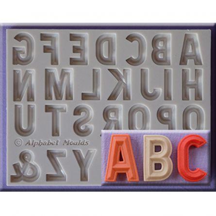 Mulaj silicon Alfabet stil Sculptat