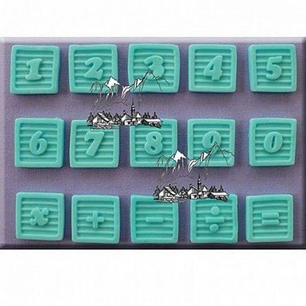 Mulaj silicon Cifre pe Cuburi