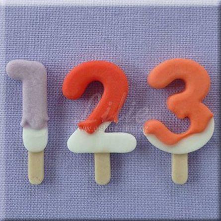 Mulaj silicon Cifre stil LollyPops