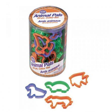 Set 50 decupatoare  plastic Animale