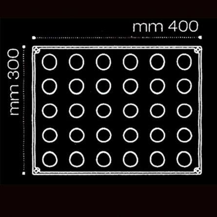 Sfere Ø 3cm - Forma Silicon 30x40cm, 30 cavitati