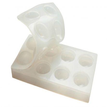 Sfere 3D Ø 5.5 cm - Matrita dubla silicon, 8 cavitati