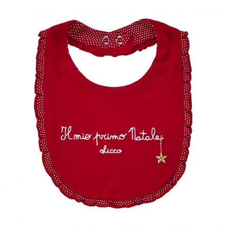 Baveta copii Chicco, pentru Craciun, rosu, 99