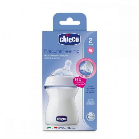 Biberon Chicco STEP UP, 250ml, t.s., flux mediu, 2luni+, 0%BPA