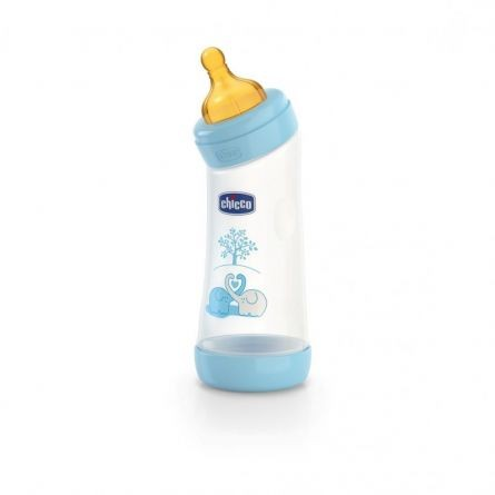 Biberon Chicco WellBeing PP in unghi, boy, 250ml, t.c., flux normal, 0+luni, 0%BPA