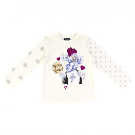 Bluza copii Chicco, alb cu model, 116