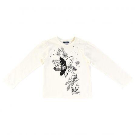 Bluza copii Chicco, alb cu model, 110
