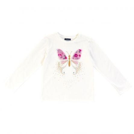 Bluza copii Chicco, alb cu model, 122