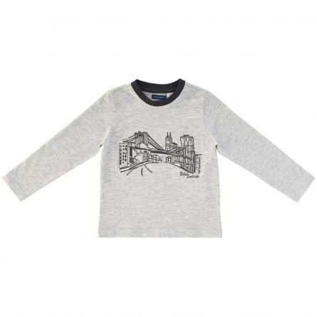 Bluza copii Chicco, gri cu model, 116