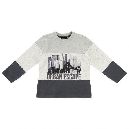 Bluza copii Chicco, gri cu model, 06191