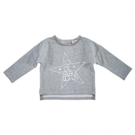 Bluza copii Chicco, gri cu model, 74
