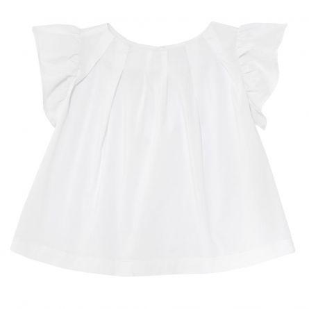 Bluzita copii Chicco, alba cu maneca scurta, fetite, 110