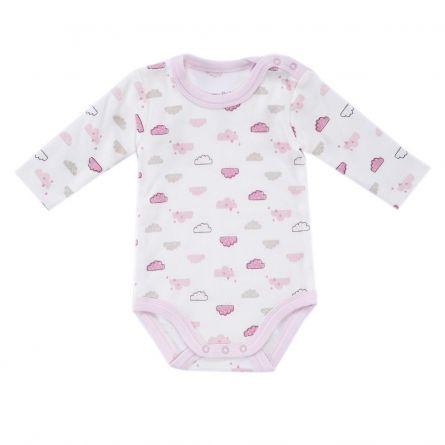 Body bebelusi Chicco, maneca lunga, roz cu model, 50